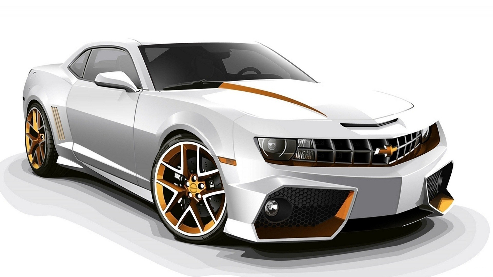 Chevrolet Camaro White 3D HD Car Wallpapers HD Wallpapers 1920x1080
