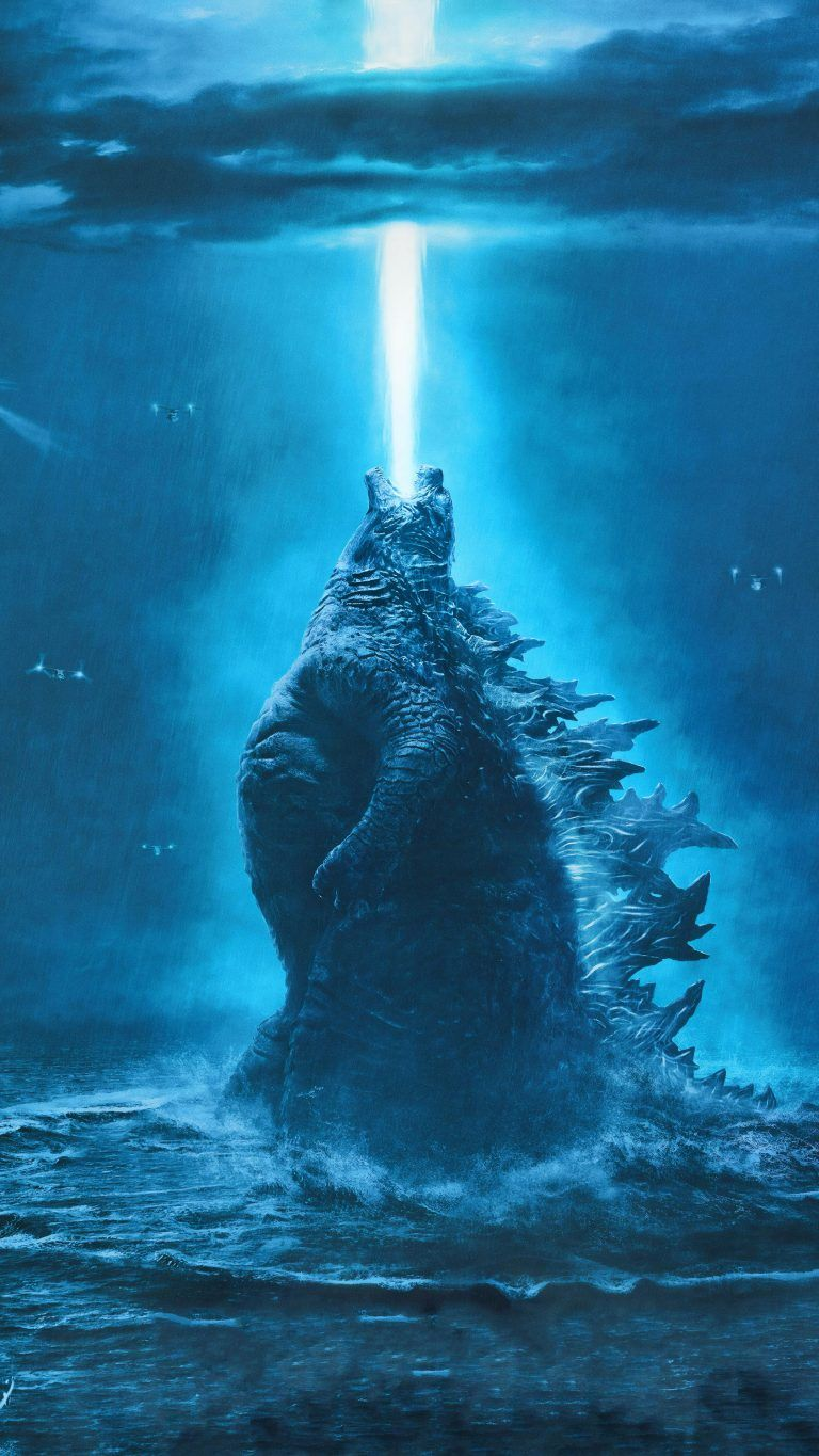 Godzilla King of The Monsters 4K Ultra HD Mobile Wallpaper 768x1365