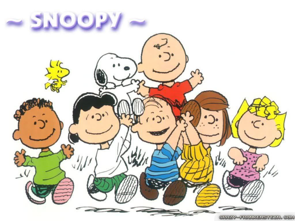 Charlie Brown gang cartoon cartoon wallpapers 1024x768