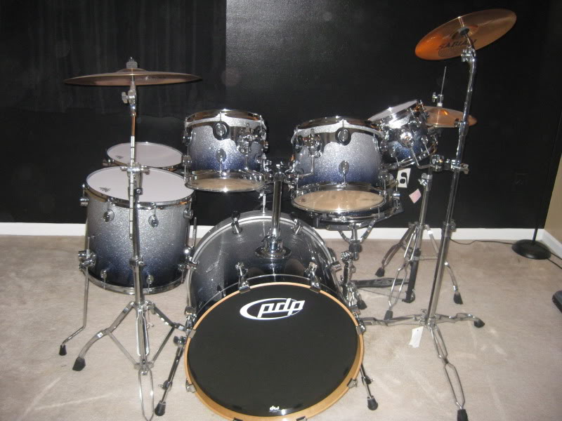 Drums Pdp Main Stage 5 Piece Drum Set With Sabian Cymbals Wallpaper 800x600