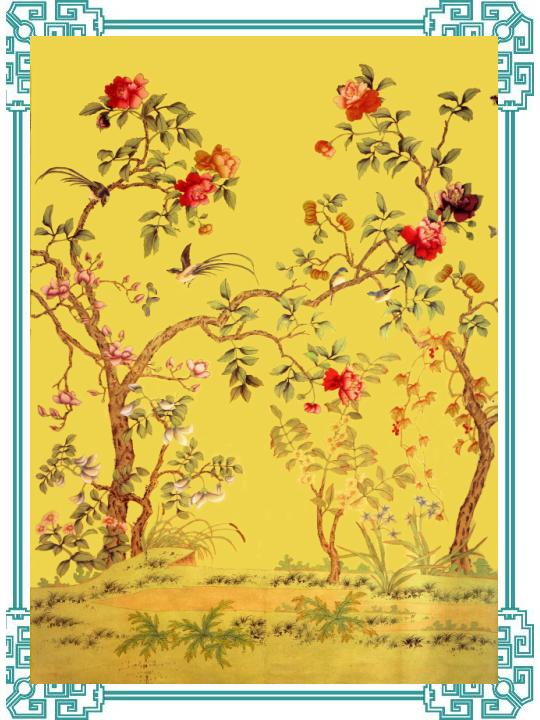 Hand Painted Silk Wallpapers 30   China Hand Painted Silk Wallpapers 540x720
