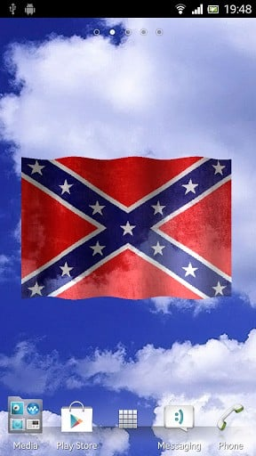 View bigger   Confederate flag 3D wallpaper for Android screenshot 288x512