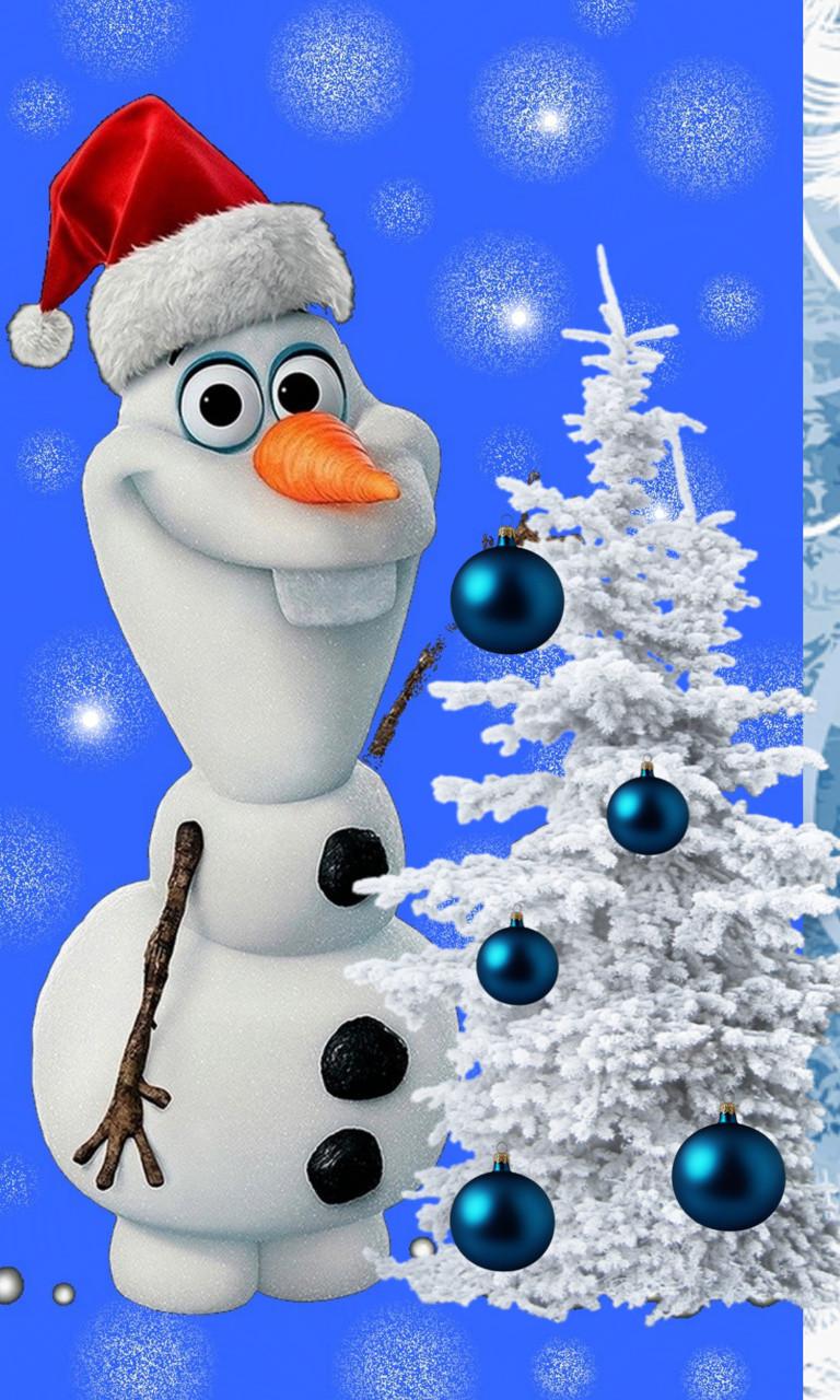 Olaf Merry Christmasjpg phone wallpaper by twifranny 768x1280
