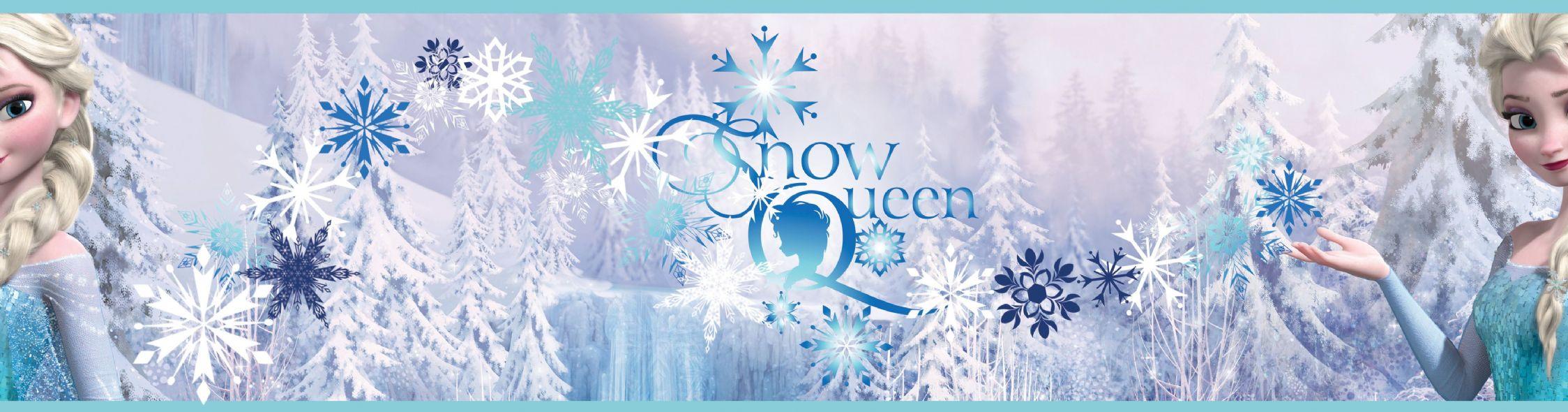 Disney Frozen Snow Queen Self Adhesive Wallpaper Border 5m 2248x590