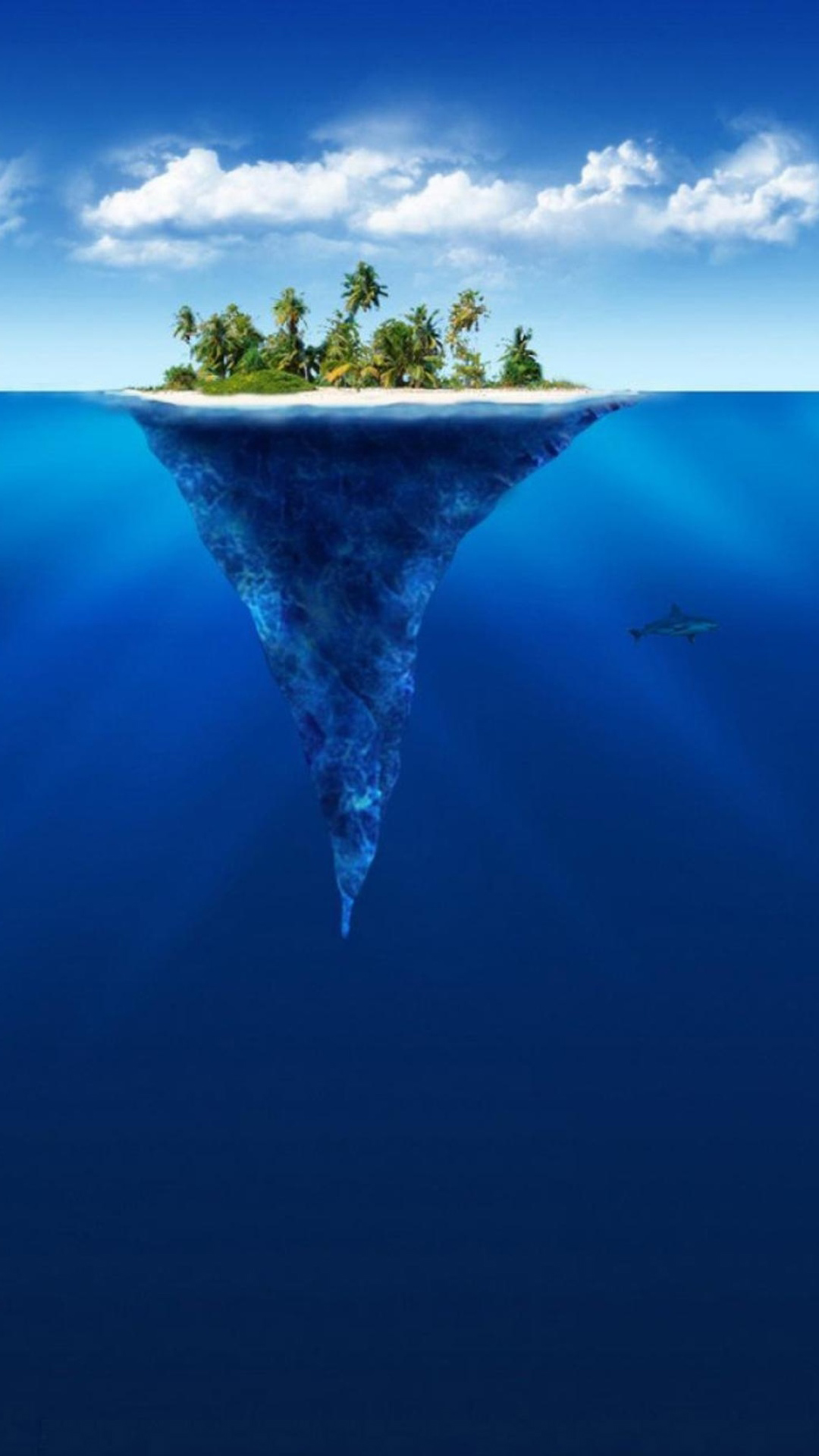 Tropical Island Desktop Wallpaper 1080x1920