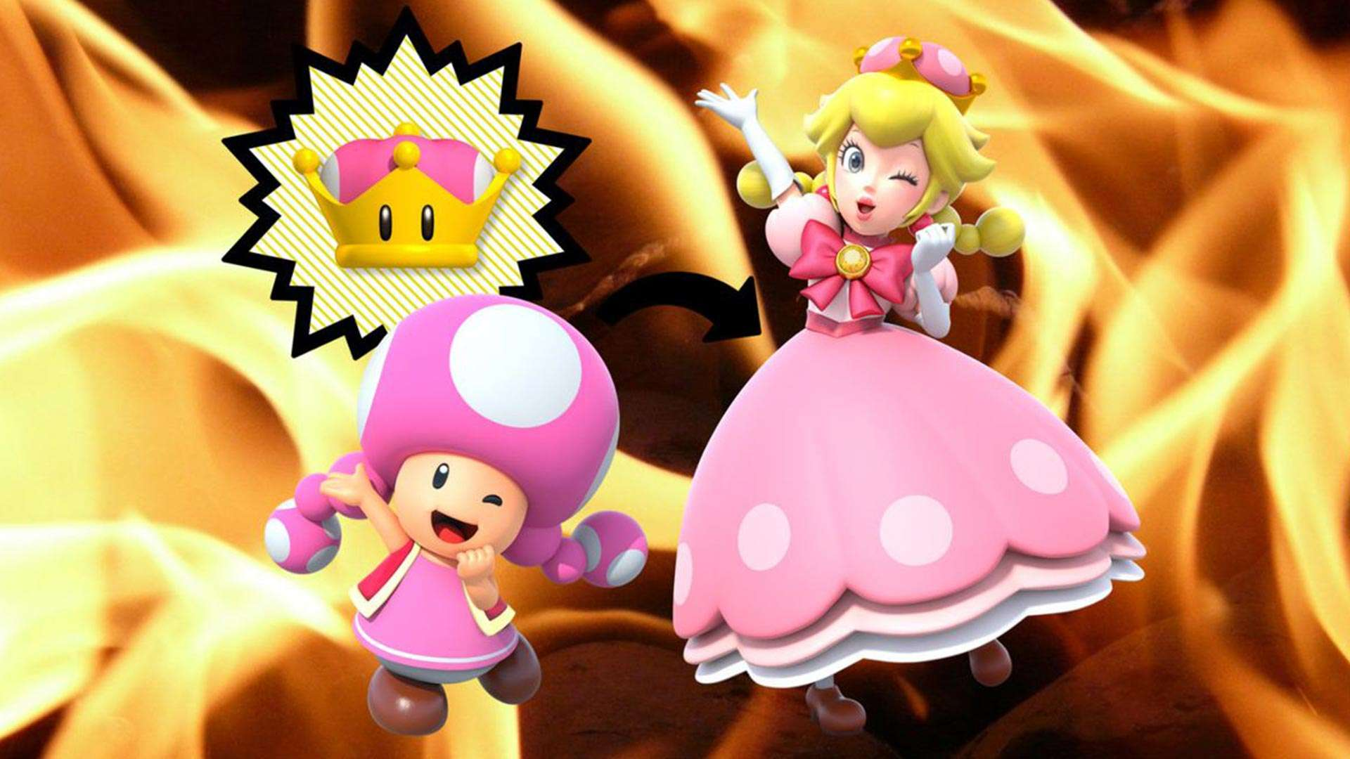New Super Mario Bros U Deluxe Gives Toadette a wallpaper 161 1920x1080