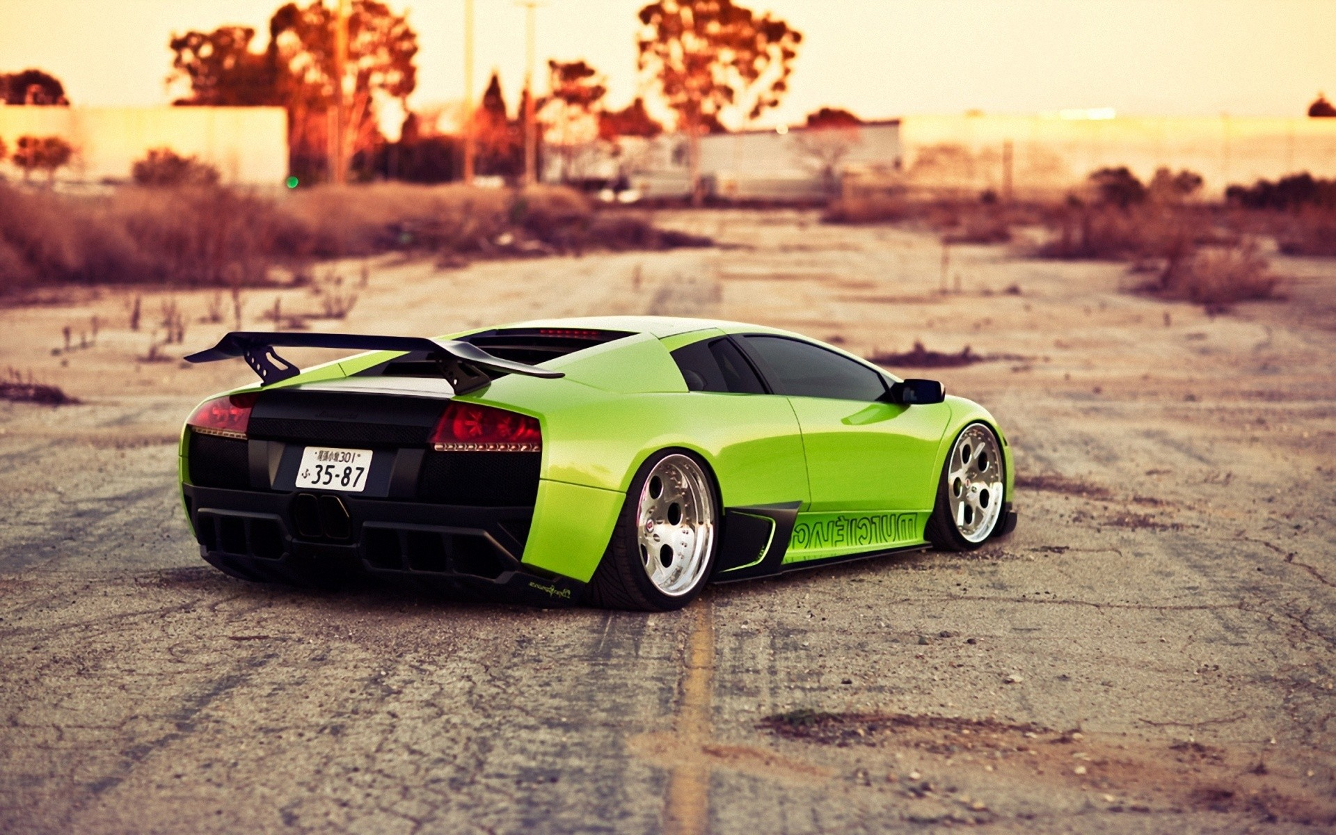 Slammed Cars Wallpaper Lamborghini green wallpaper 1920x1200
