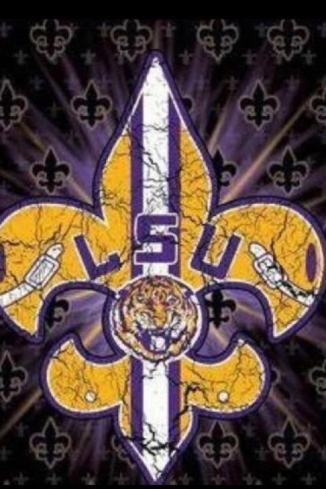 LSU Football iPhone Wallpaper - WallpaperSafari