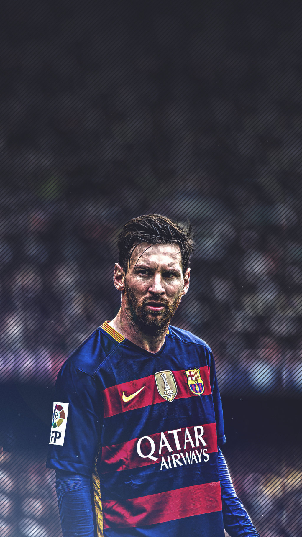 Lionel Messi Beard Mobile wallpaper 2016 by subhan22 on 1024x1821