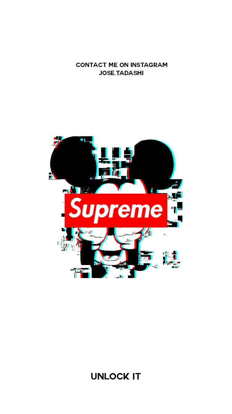 Supreme Wallpaper   Iphone Wallpaper Supreme Mickey Mouse 750x1334