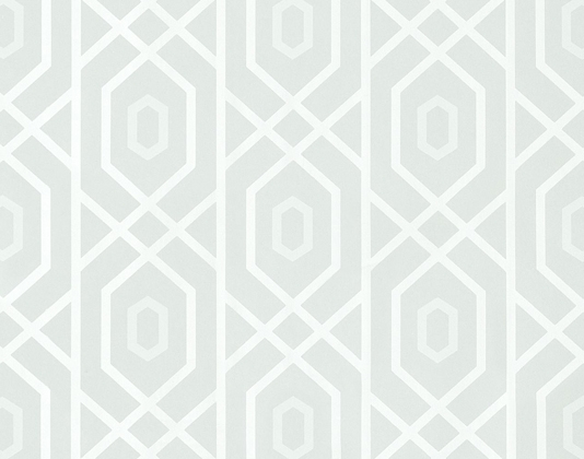 Prescott Wallpaper A geometric wallpaper with a large trellis design 534x420
