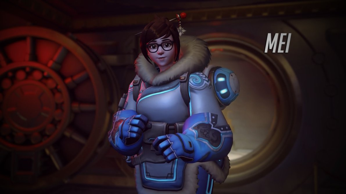Overwatch Mei Portrait Wallpaper   1920 x 1080 1191x670