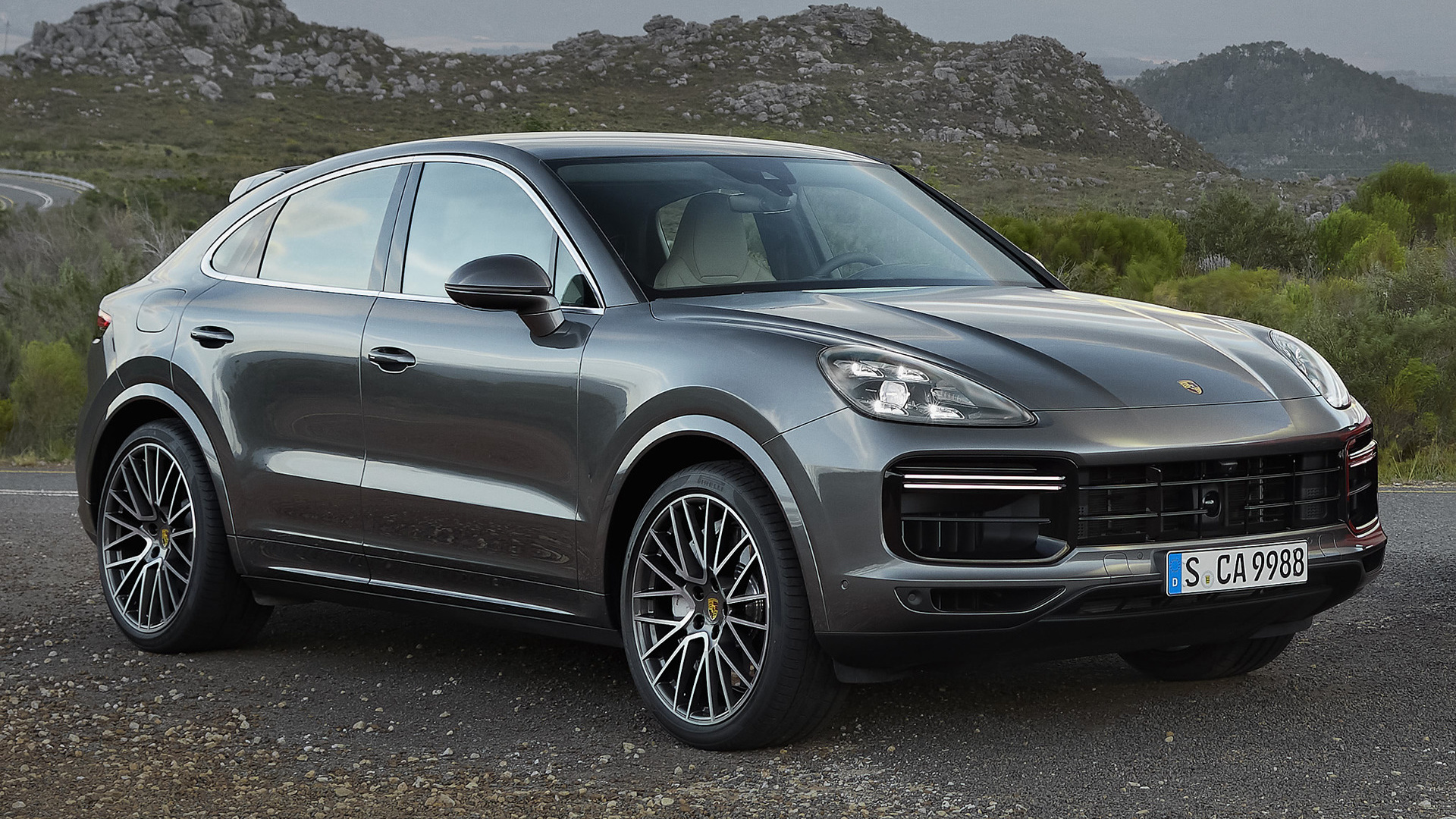 2019 Porsche Cayenne Turbo Coupe   Wallpapers and HD Images Car 1920x1080