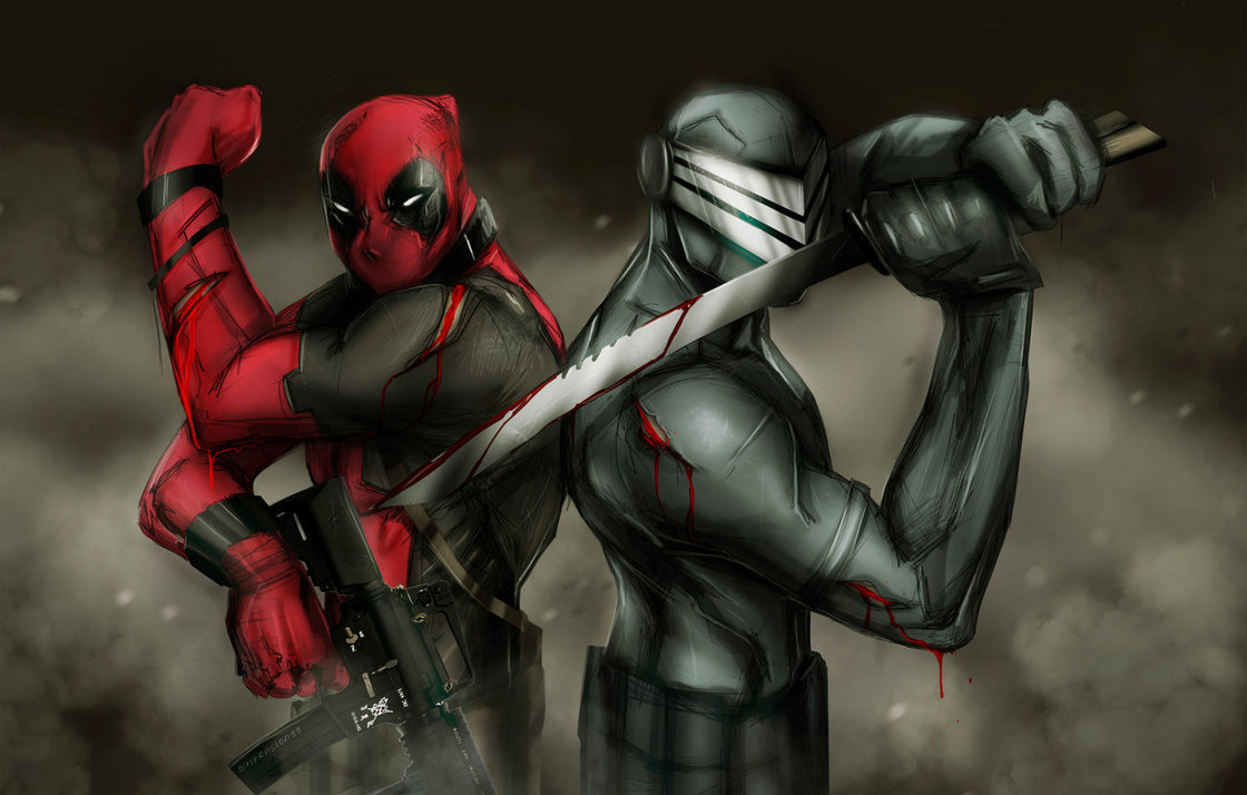 DEADPOOL SNAKE EYES WALLPAPER by suspension99 1120x714