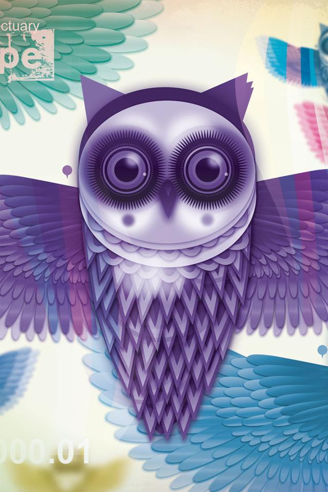 Cute Owl Iphone 5 Wallpaper