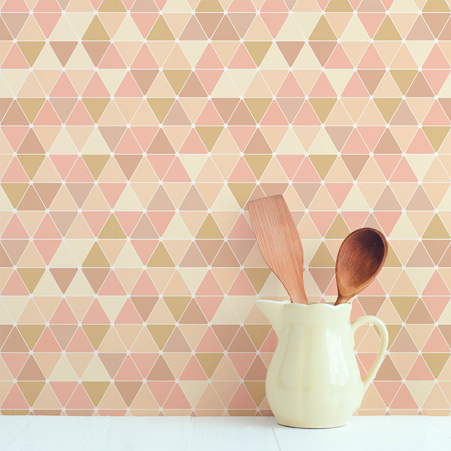 Triangles Removable Wallpaper Tile 900x900