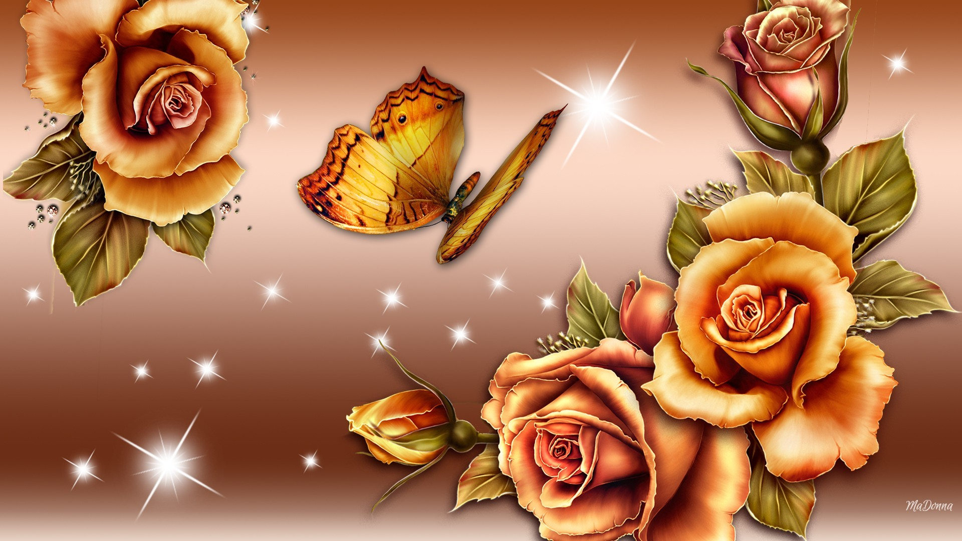Rose And Butterfly Wallpaper 57 Pictures 1920x1080
