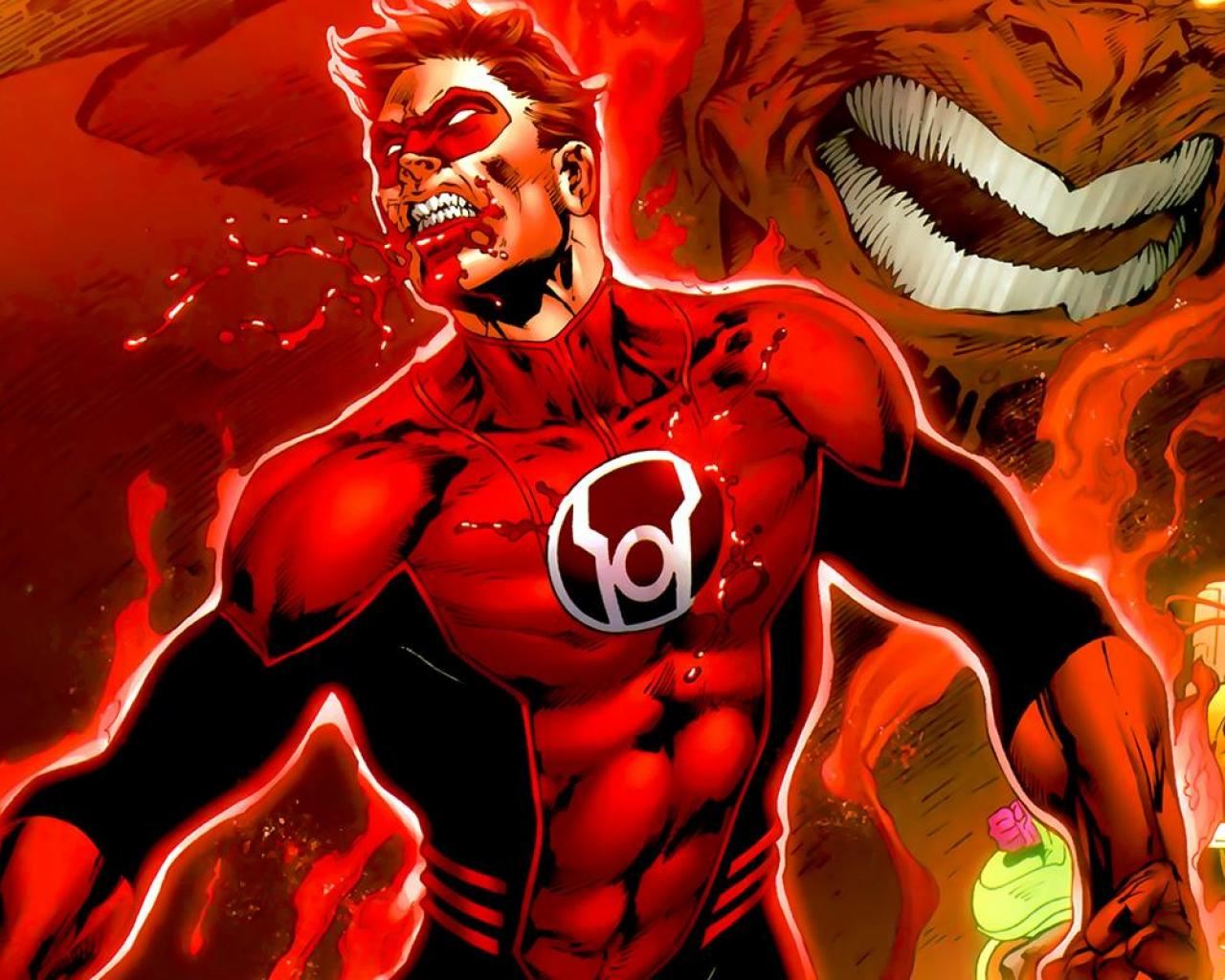 Green lantern red lantern corps comics red wallpaper HQ WALLPAPER 1280x1024