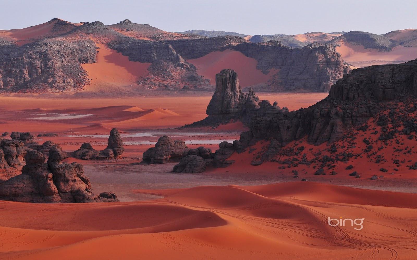Tassili n'Ajjer National Park in the Sahara, Algeria (© Gil Giuglio ...