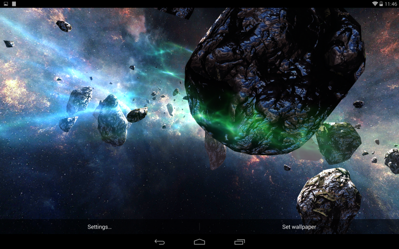 Asteroids Pack 10 Live Wallpaper 800x500