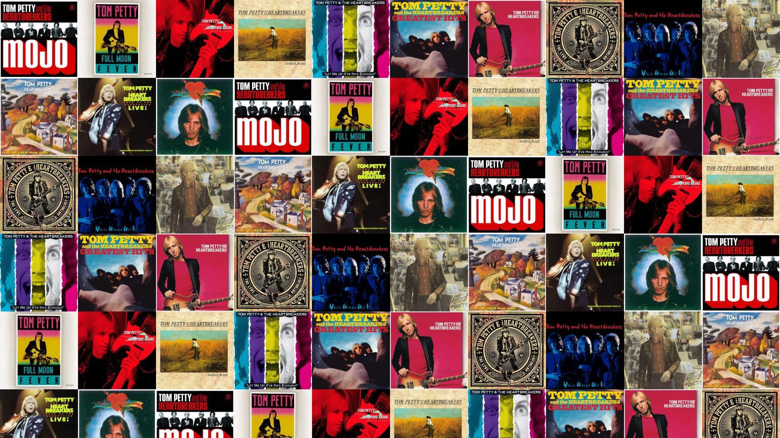 Tom Petty Heartbreakers Mojo Full Moon Fever Long Wallpaper Tiled 1600x900