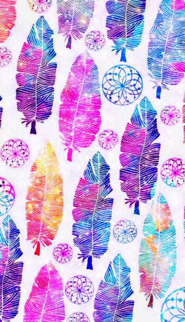 feathers pattern boho bohemian background backgrounds 640x1116