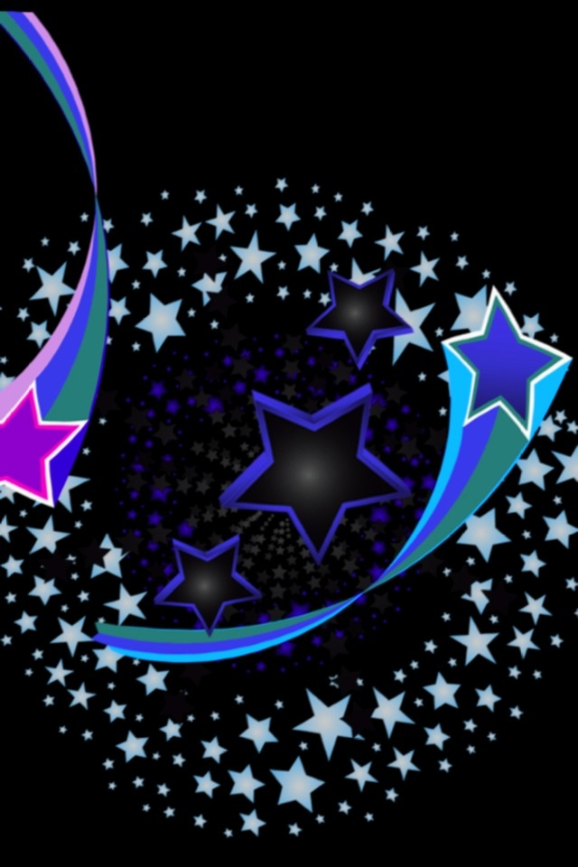 Shooting Stars in a Circle Background Themes for Laptop PC Pint 640x960