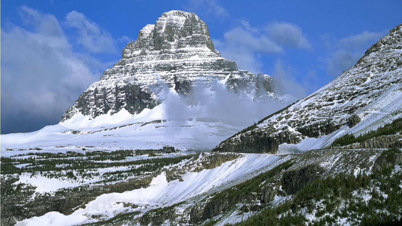 Description Download glacier national park mt reynolds Wallpaper 1366x768