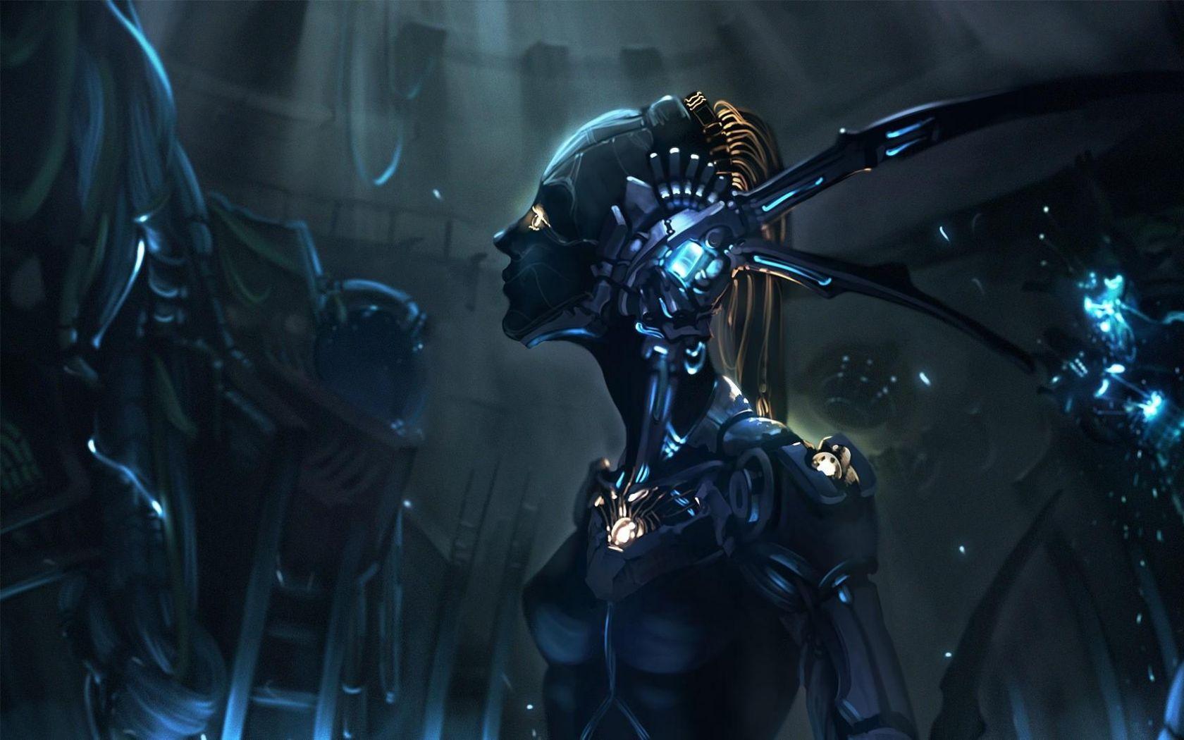 1680x1050 Wallpaper robot cyborg mechanism girl Sci Fi Sci 1680x1050