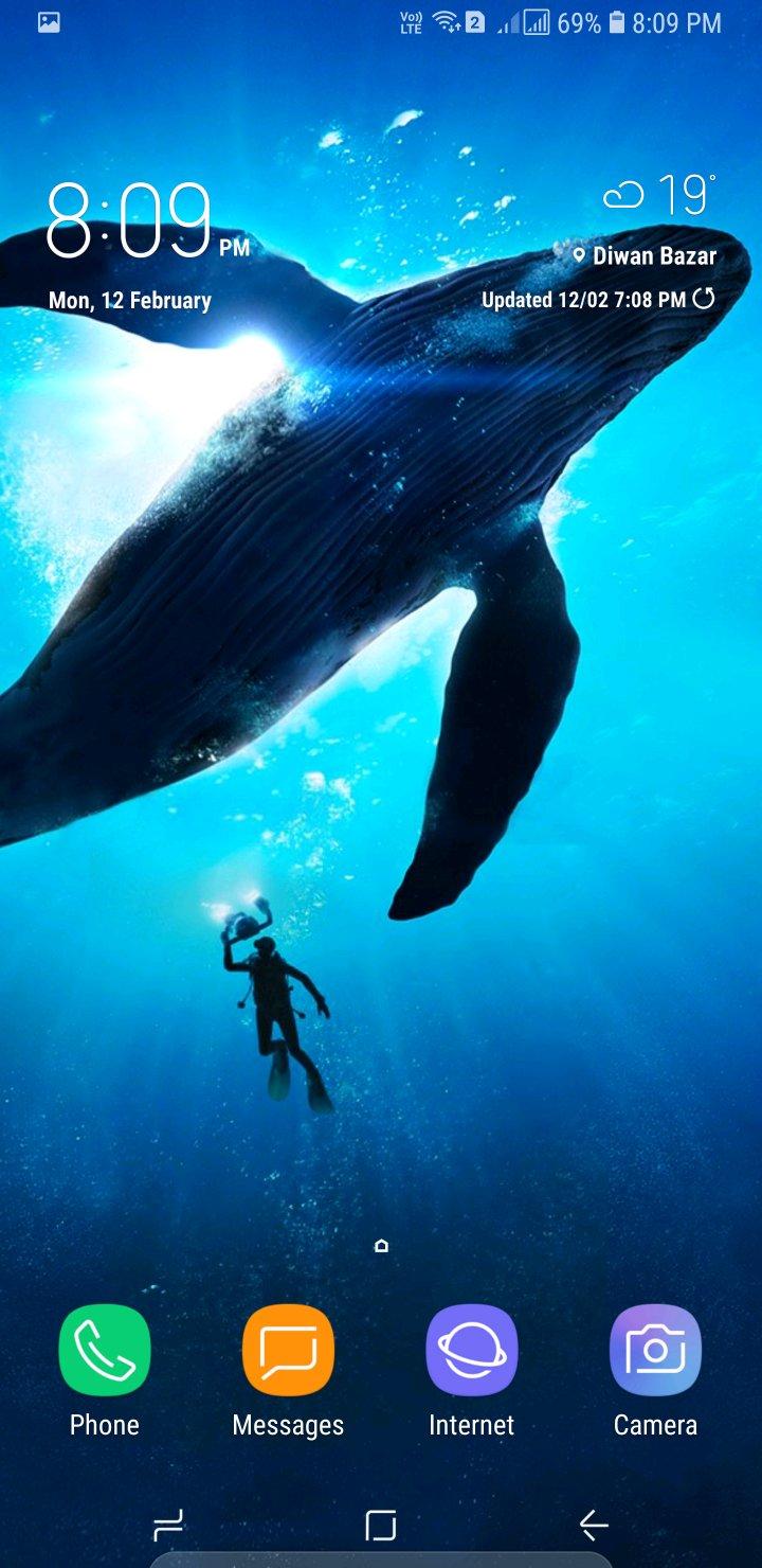 33] Samsung S8 Whale Wallpaper on WallpaperSafari 720x1480
