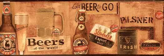 Import Beer Bottle Wallpaper Border   Wallpaper Border Wallpaper 525x181