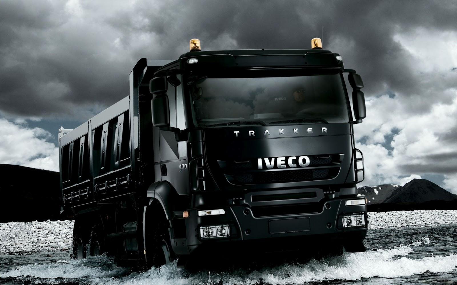 Black Iveco Trakker Truck HD Desktop Wallpaper 1600x1000
