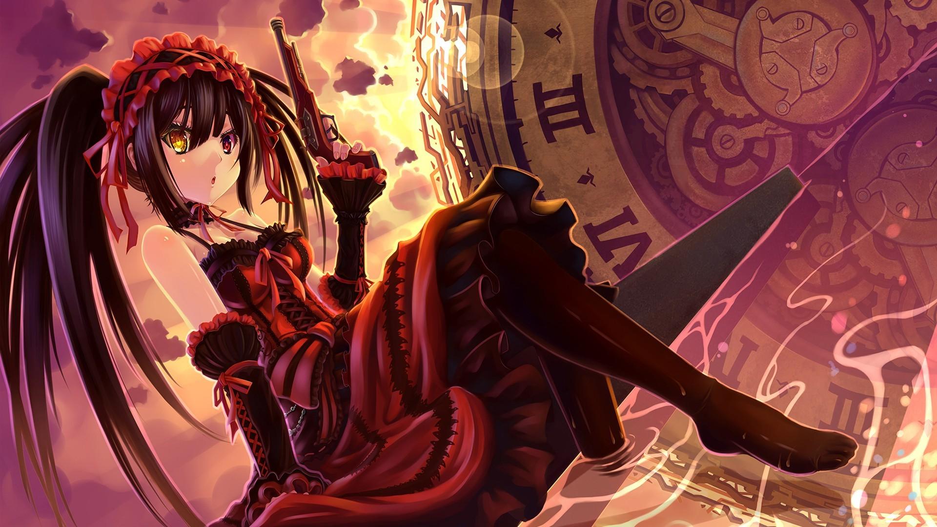 anime Anime Girls Tokisaki Kurumi Date A Live Wallpapers HD 1920x1080