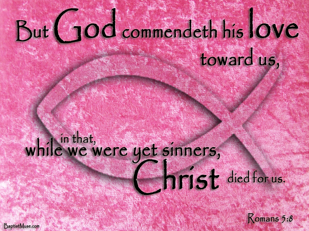 God Is Love Wallpaper God commendeth his love 1024x768