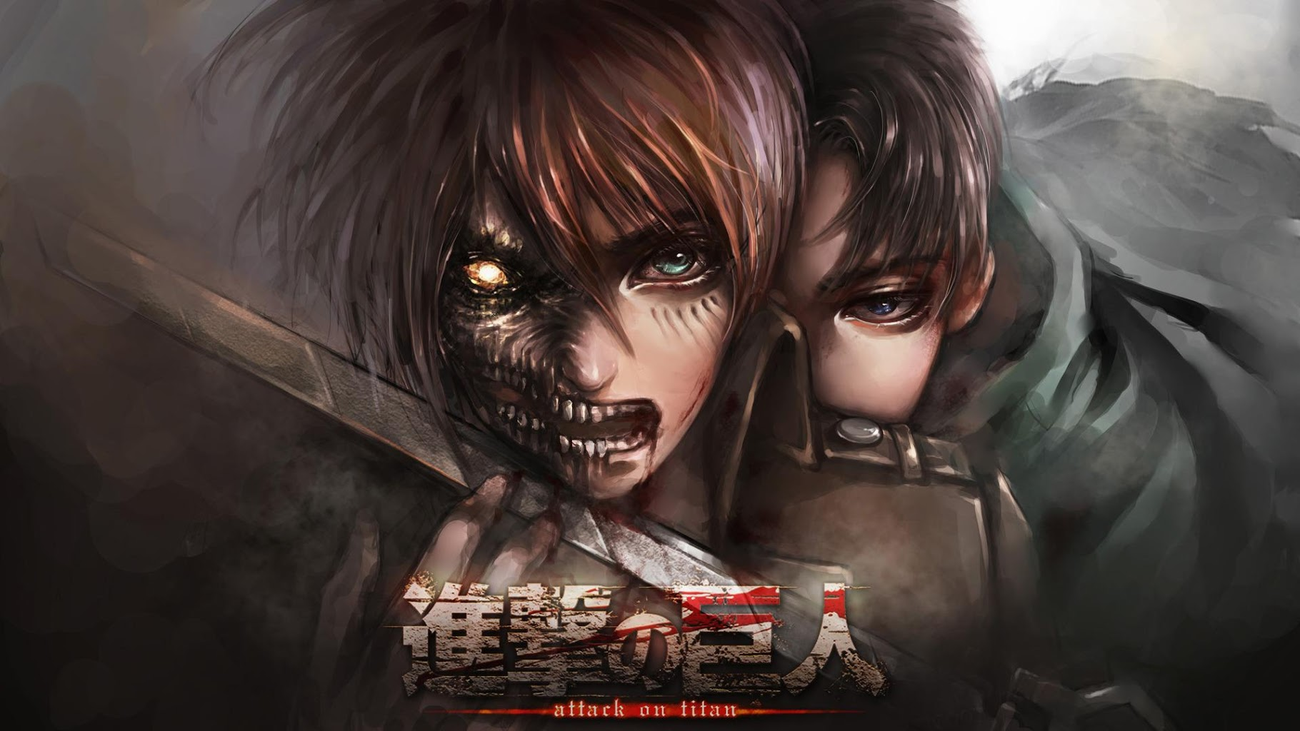 50 Attack On Titan Logo Wallpaper On Wallpapersafari