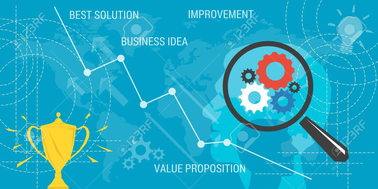 Vector Business Background Concept Improvement Value Proposition 1300x650