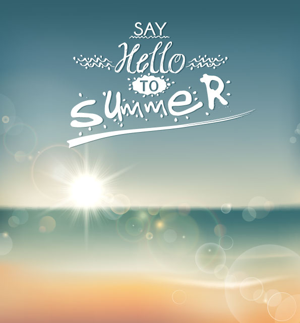 Say Hello to Summer Vector Graphic Download 595x641
