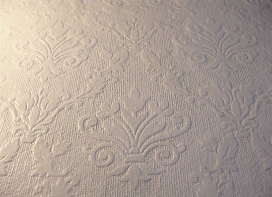 Hot or Not Painting Over Textured Wallpaper Apartment Therapy 540x392