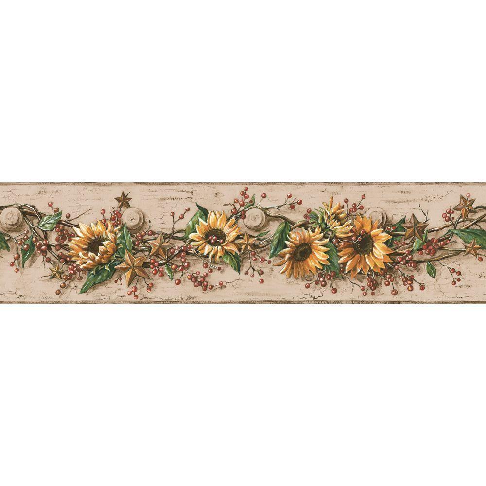 Sunflower Wallpaper Border in 2019 Home Sweet Home Sunflower 1000x1000
