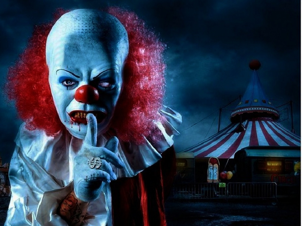 Evil clowns wallpaper wallpapersafari - Circus joker wallpaper ...
