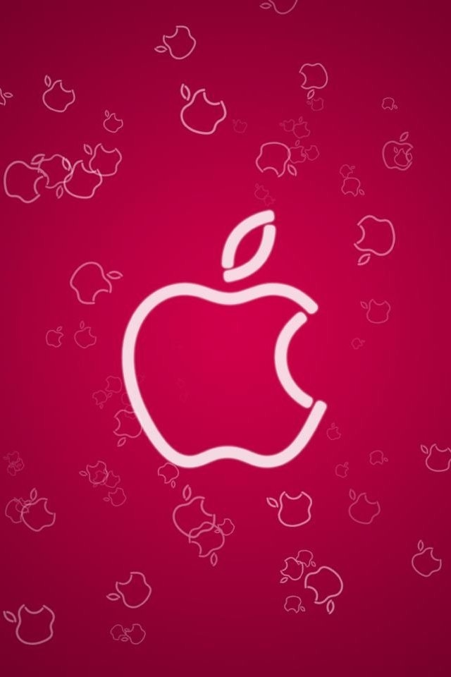 download cute pink apple wallpapers for iphone 4s 640x960