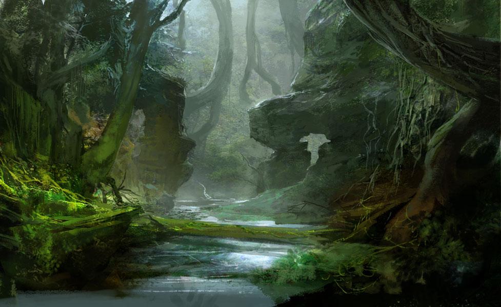 INSPIRATIONAL FOREST CONCEPT ART Concept Art Forests 977x600