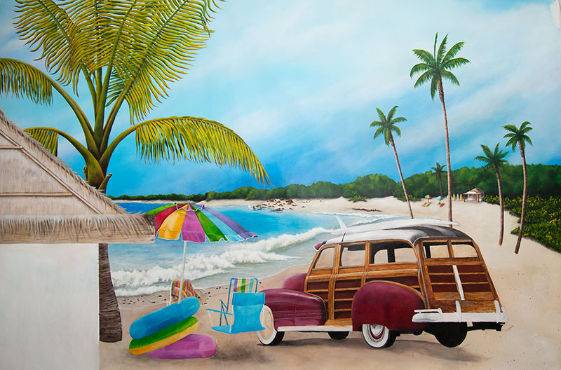 beach murals 2015   Grasscloth Wallpaper 800x528