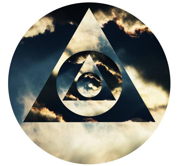 Tri Ski Hipster Triangle Dope Swag Hype Illuminati Sky Cloud T Shirt 570x533