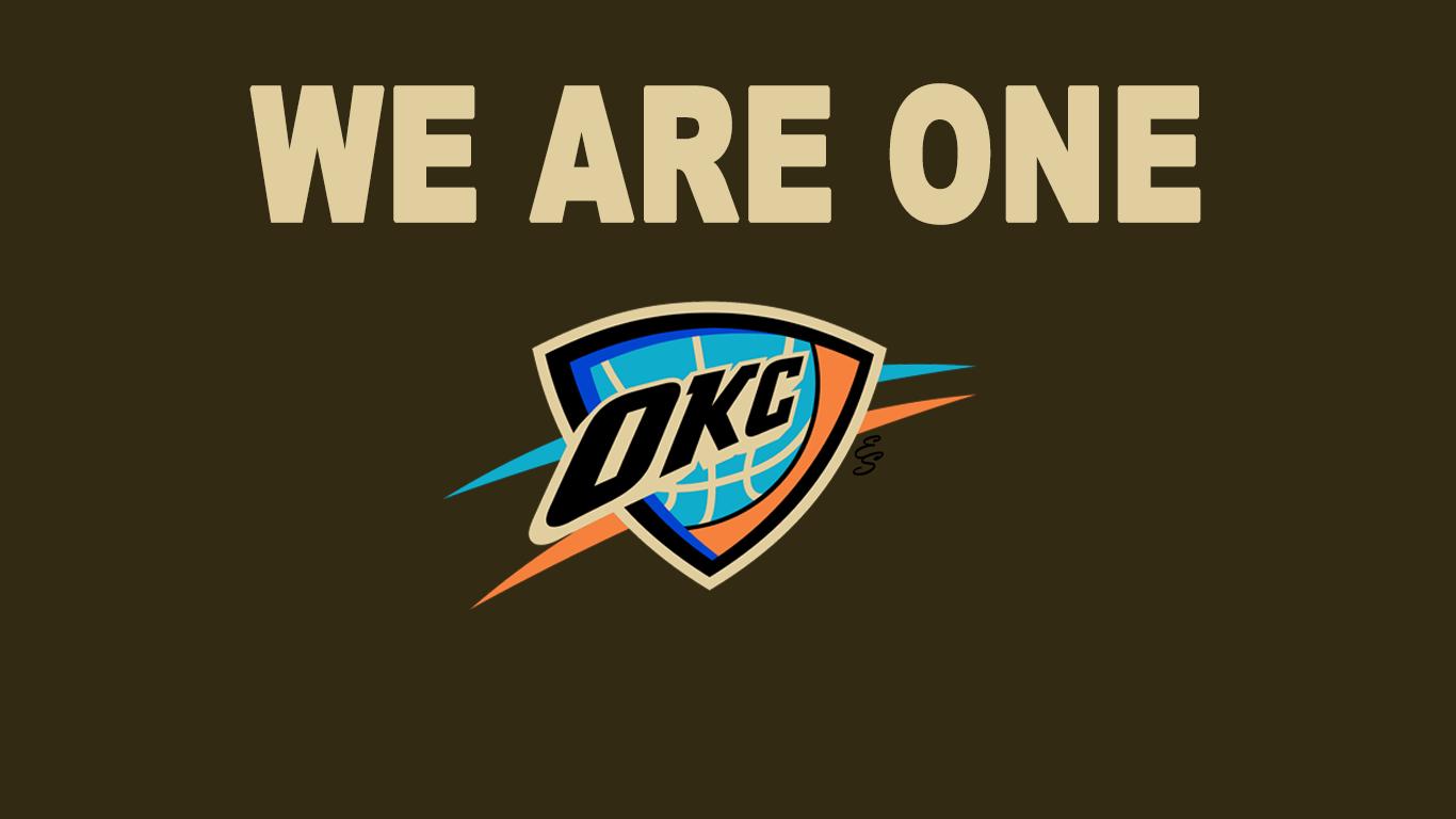 OKC Thunder WE ARE ONE Wallpaper
