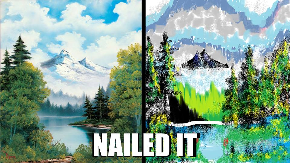 Free Download Bob Ross Vs MS Paint By Link1ovaGanon