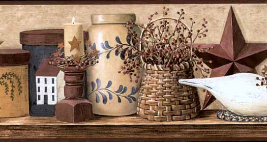 Wooden Swan Wall Paper Border PatternHK4608BDB List Price 3799 525x279