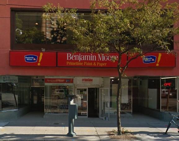 your downtown Toronto Benjamin Moore paint wallpaper store 577x454