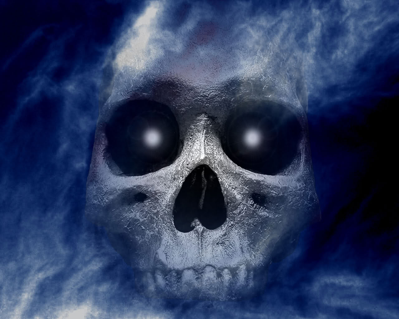 Download Scary Skulls wallpaper halloween skull wallpaper 1280x1024