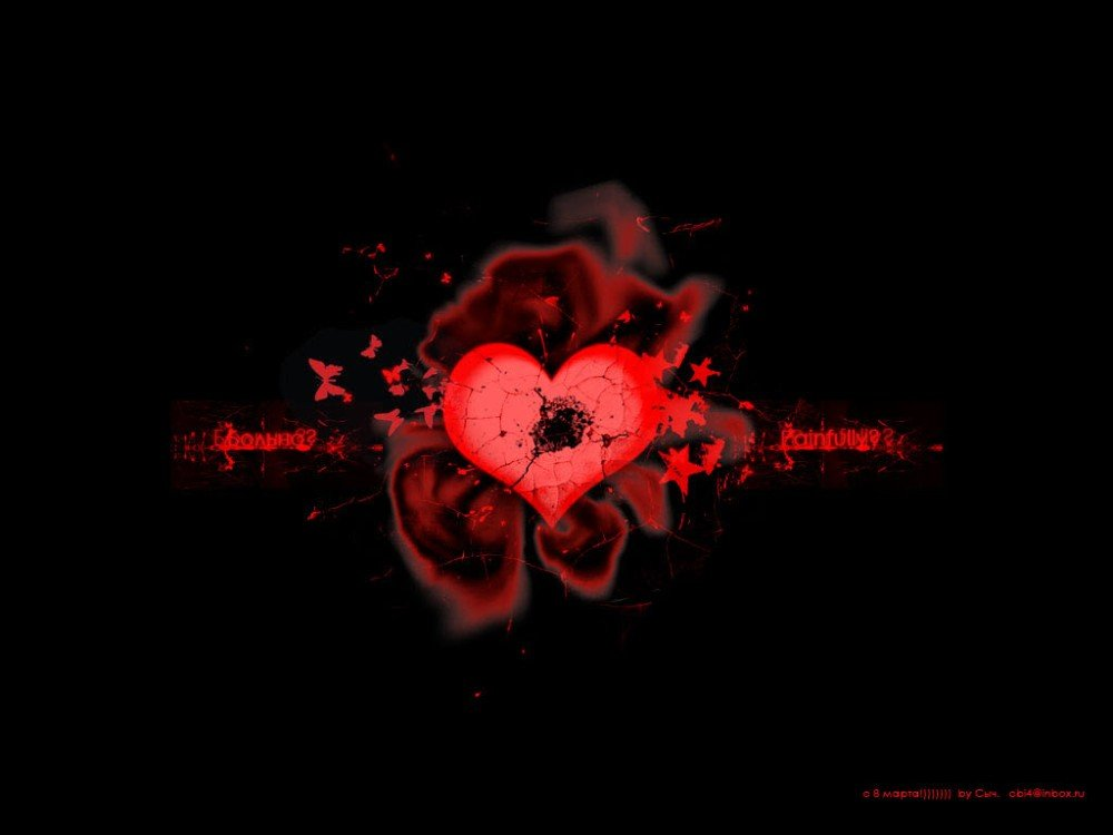 Red Hearts Black Background - WallpaperSafari